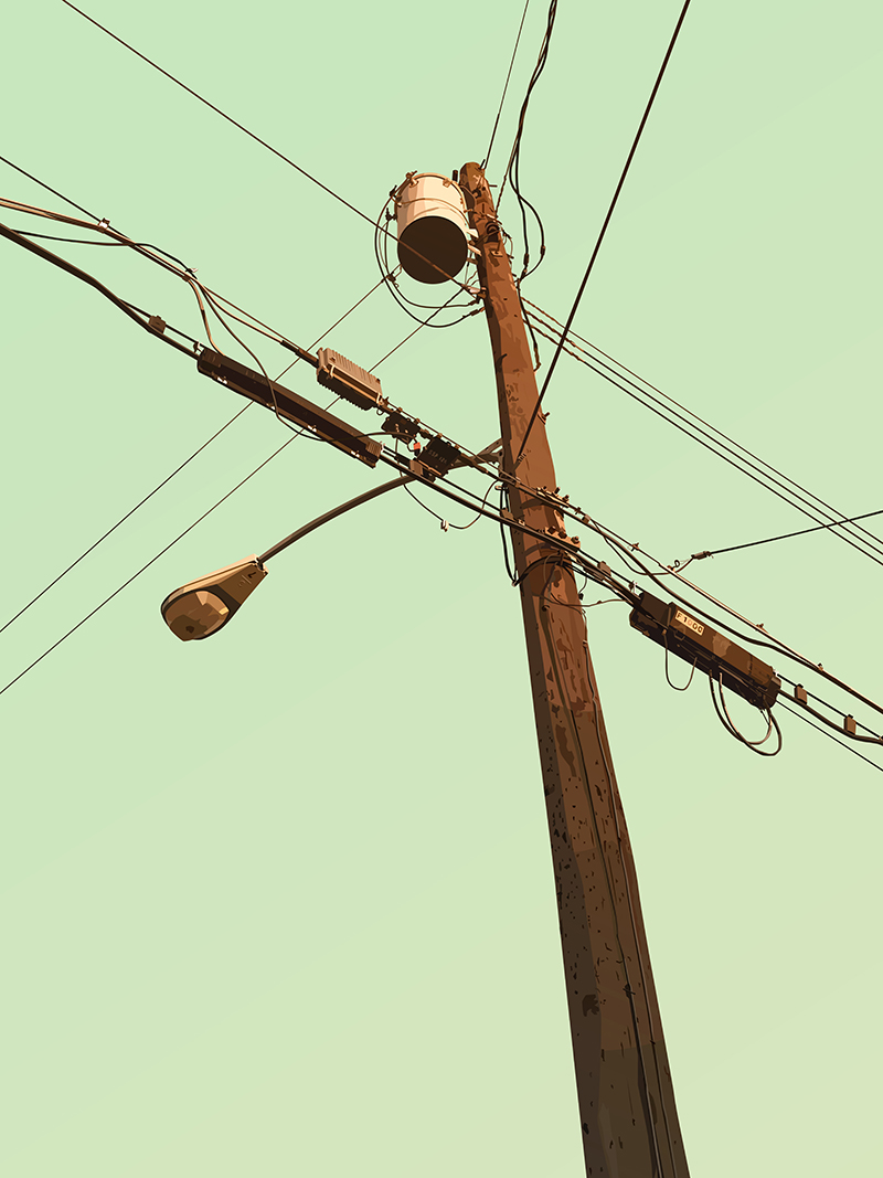 Telephone Pole Vector Art
