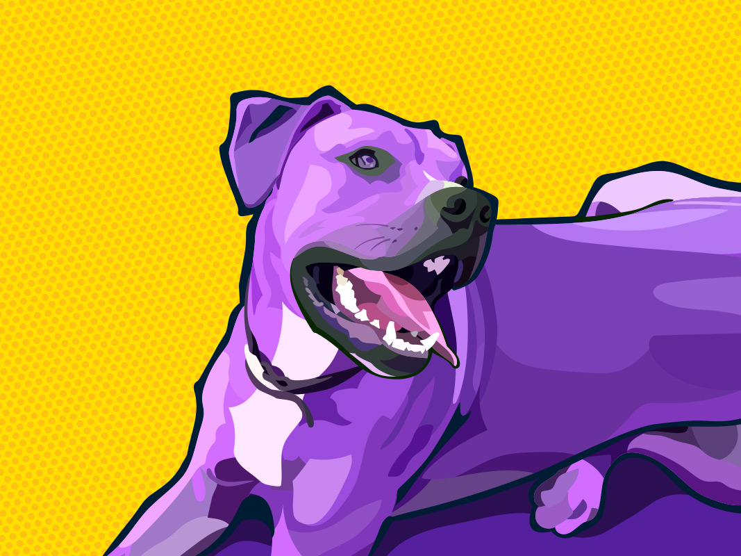Pop art pup